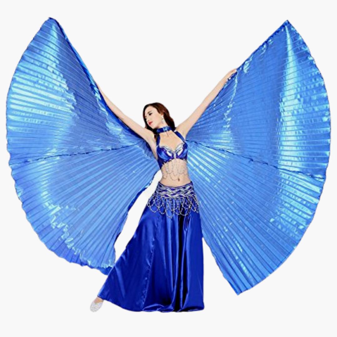 mörkblå isisvingar isis wings blue