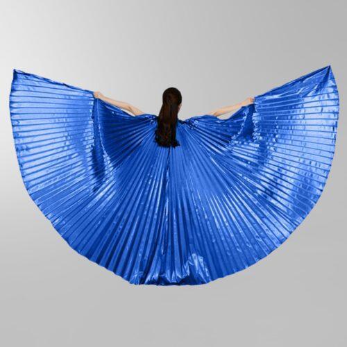 mörkblå isisvingar vingar dans