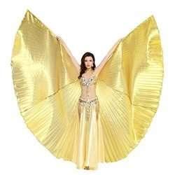 orientaliska dansvingar i guld scenkonst