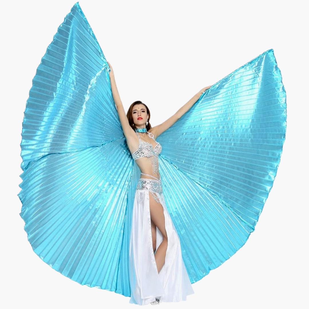 turkosa vingar till magdans dansredskap