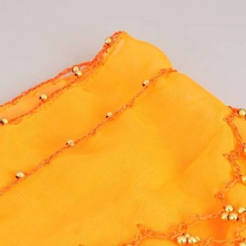 belly dancing hip scarf orange