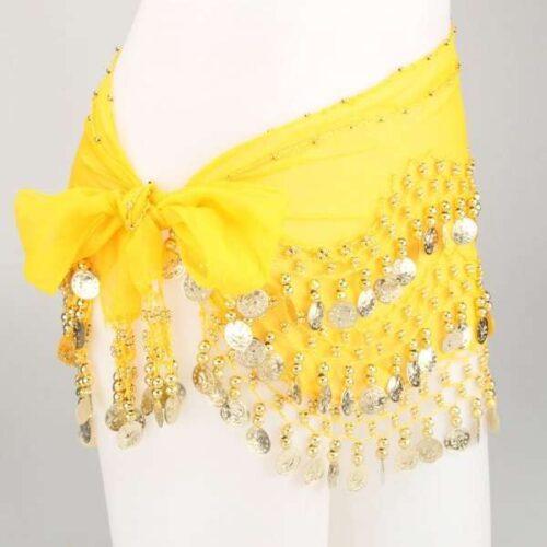 gul höftsjal med guldmynt1