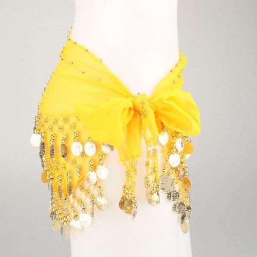 gul höftsjal med guldmynt2