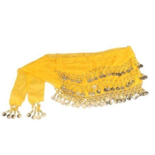 gul höftsjal med guldmynt3
