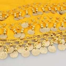 gul höftsjal med guldmynt5