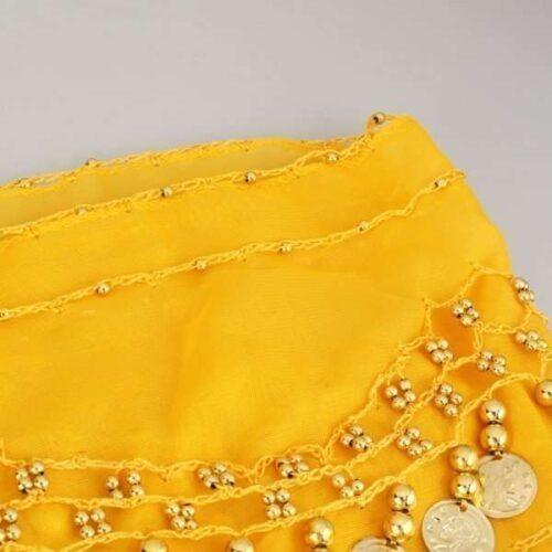 gul höftsjal med guldmynt6