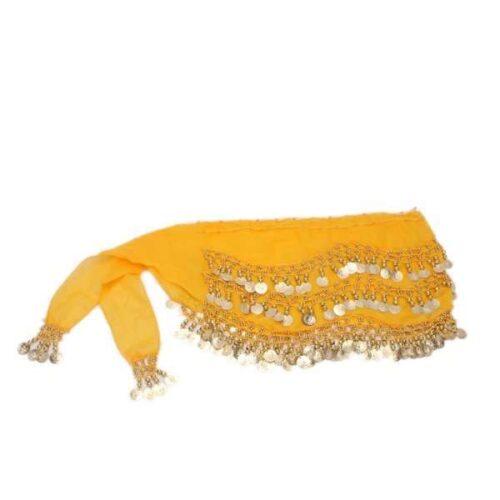 gul höftsjal med silvermynt3