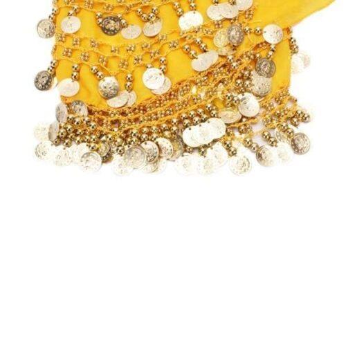 gul höftsjal med silvermynt4