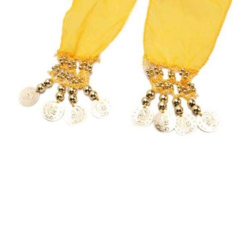 gul höftsjal med silvermynt5