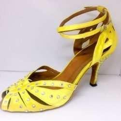 gula dansskor för magdans och latinamerikansk danskläder