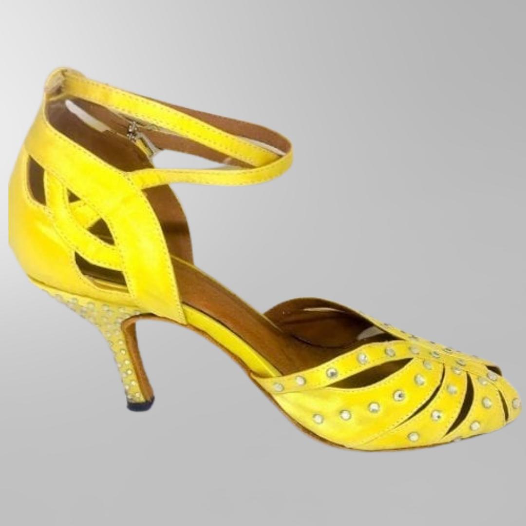 gula dansskor för magdans och latinamerikansk dans2