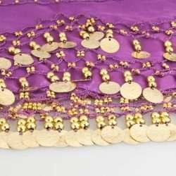 lila höftsjal med guldmynt6