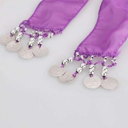 lila höftsjal med silvermynt3