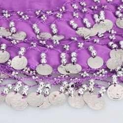lila höftsjal med silvermynt4