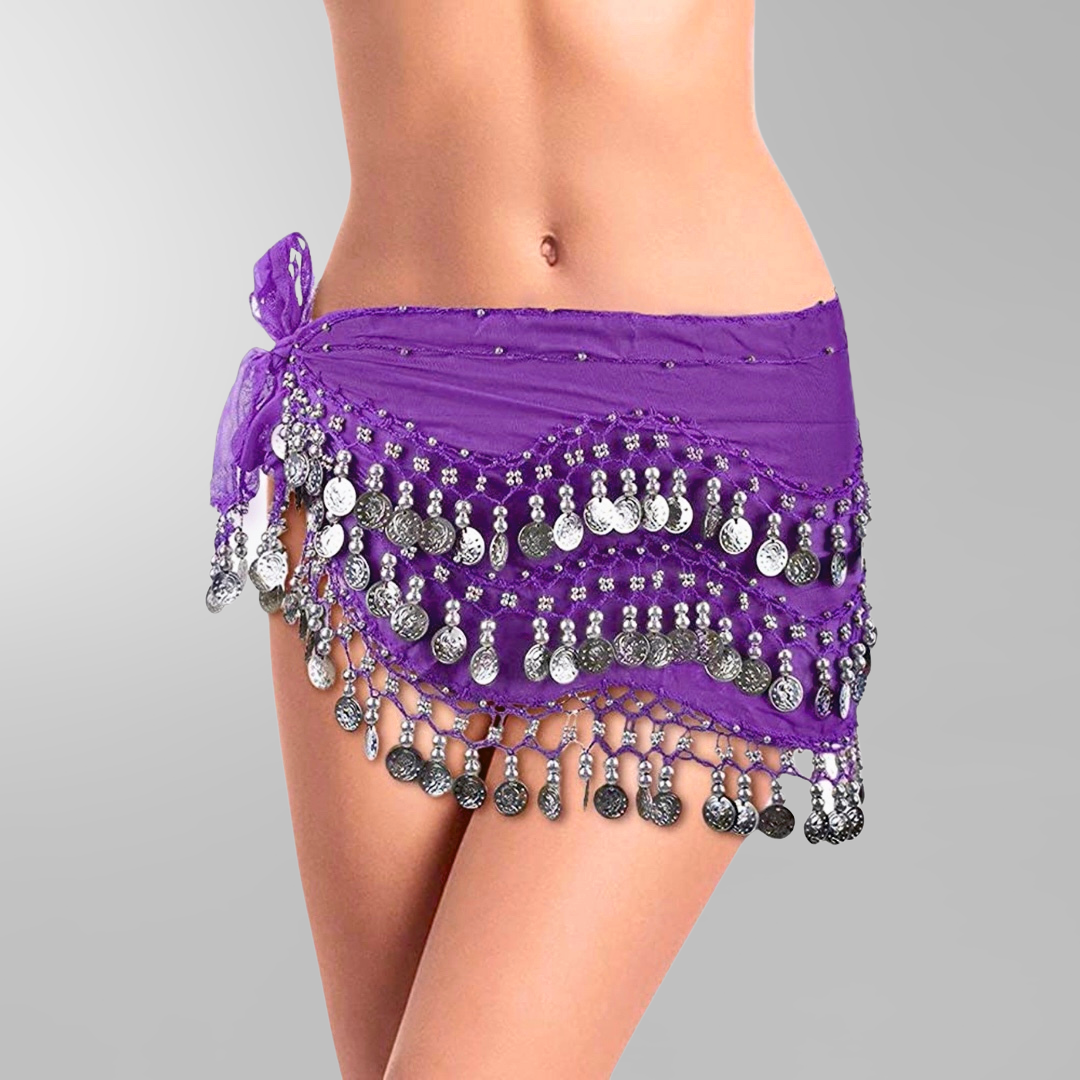 ... hip scarf – base model with silver coins. lila höftsjal med silvermynt4 149691ce295cb