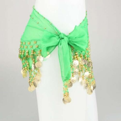 limegrön höftsjal med guldmynt1