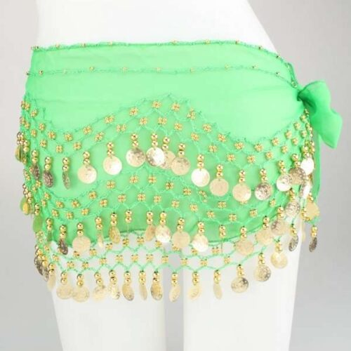 limegrön höftsjal med guldmynt2