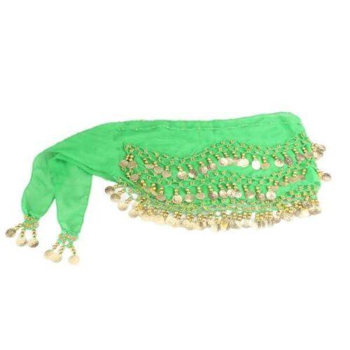limegrön höftsjal med guldmynt3