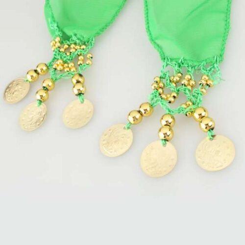 limegrön höftsjal med guldmynt4