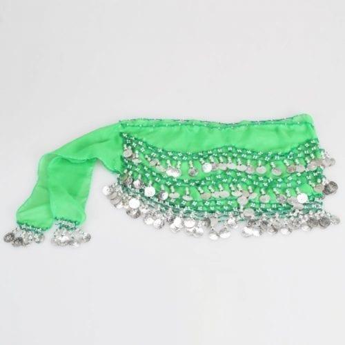 limegrön höftsjal med silvermynt2