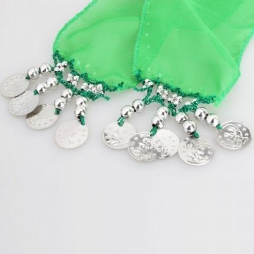 limegrön höftsjal med silvermynt3