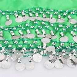 limegrön höftsjal med silvermynt5