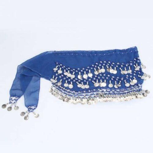 mörkblå höftsjal med silvermynt2