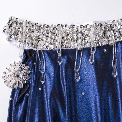 magdansdräkter blå metallic dansdräkt orientalisk dans11