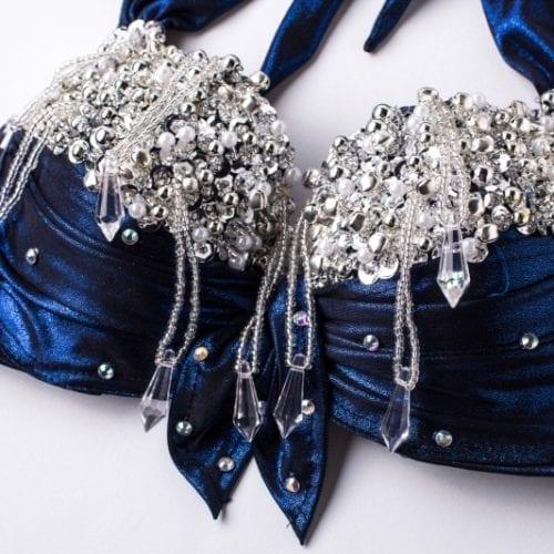magdansdräkter blå metallic dansdräkt orientalisk dans6