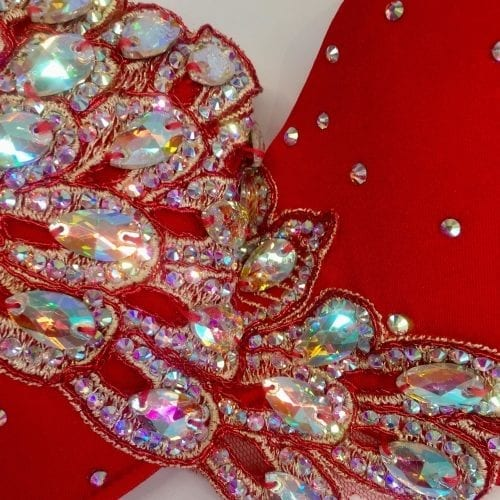 magdansdräkter röd satin dansdräkt orientalisk dans10
