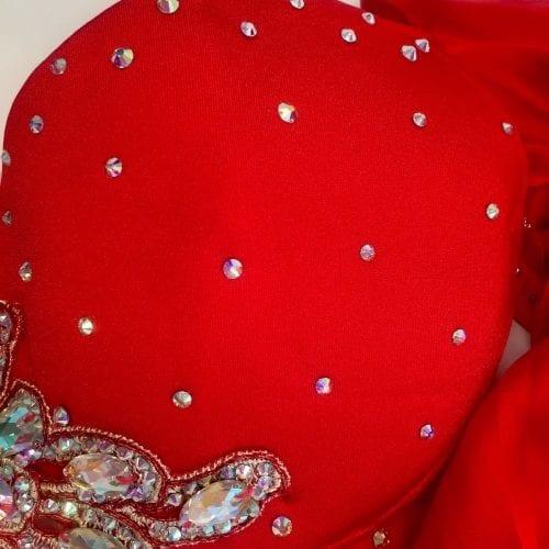 magdansdräkter röd satin dansdräkt orientalisk dans11
