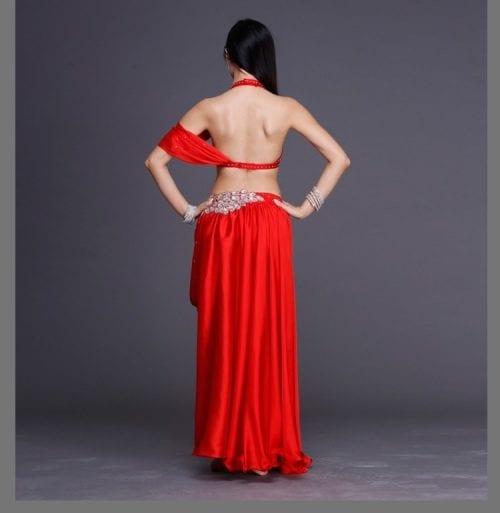 magdansdräkter röd satin dansdräkt orientalisk dans2