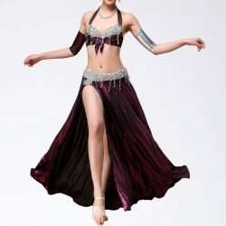 magdansdräkter vinröd metallic dansdräkt orientalisk dans12