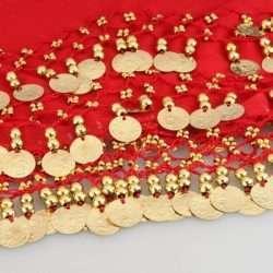 rödhöftsjal med guldrmynt6