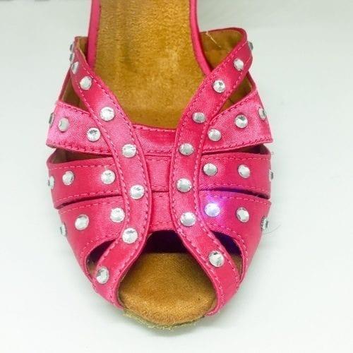 1129dce27d7 rosa dansskor med kristaller för magdans orientalisk dans och samba salsa  latindans1