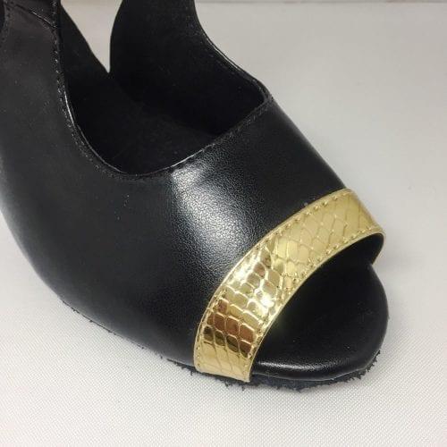 svart guld dansskor för magdans och latinamerikansk dans1