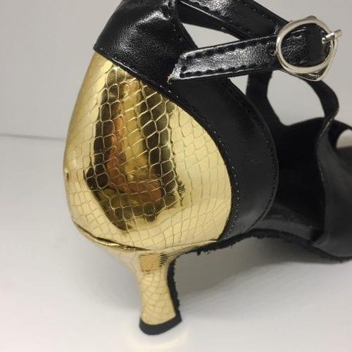 svart guld dansskor för magdans och latinamerikansk dans2
