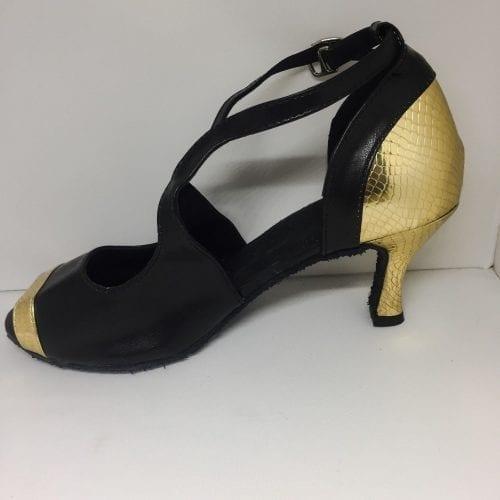 svart guld dansskor för magdans och latinamerikansk dans3