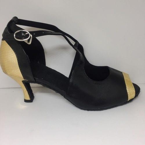 svart guld dansskor för magdans och latinamerikansk dans4