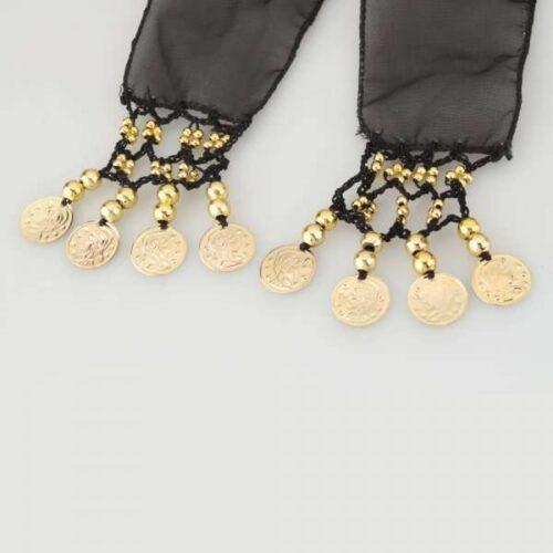 svart höftsjal med guldmynt5