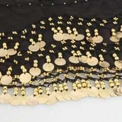 svart höftsjal med guldmynt6