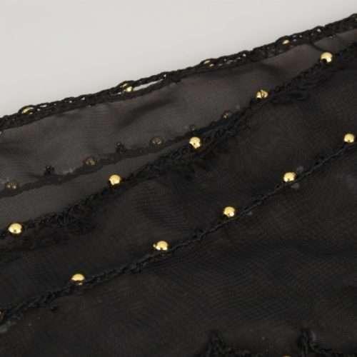 svart höftsjal med guldmynt7