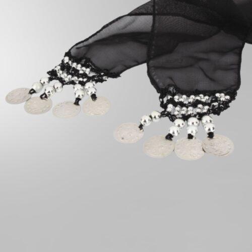 svart höftsjal med silvermynt5