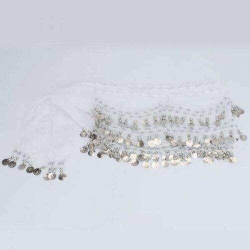 vit höftsjal med silvermynt3