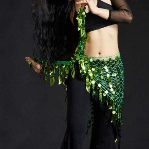 grön höftsjal orientalisk dans1