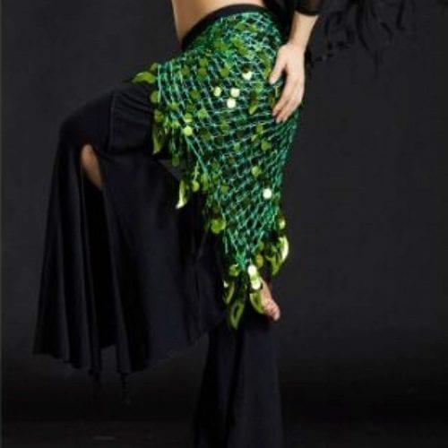 grön höftsjal orientalisk dans5