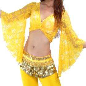dansare med gula kläder
