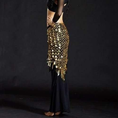 guld höftsjal orientalisk dans1