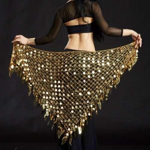 guld höftsjal orientalisk dans4