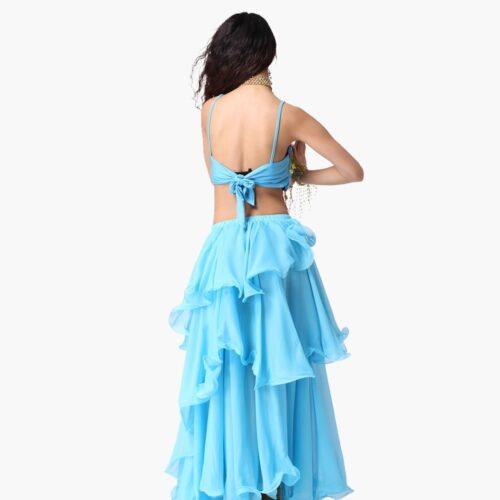 kjol för orientalisk dans i chiffong magdansös